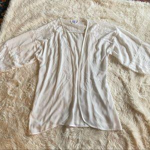 Apt 9 white kimono wrap lace large